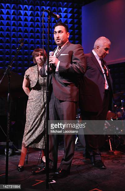 CoFounders Janis Winehouse Alex Winehouse and Mitch Winehouse address the audience during the US Launch of the The Amy Winehouse Foundation at Joe's...