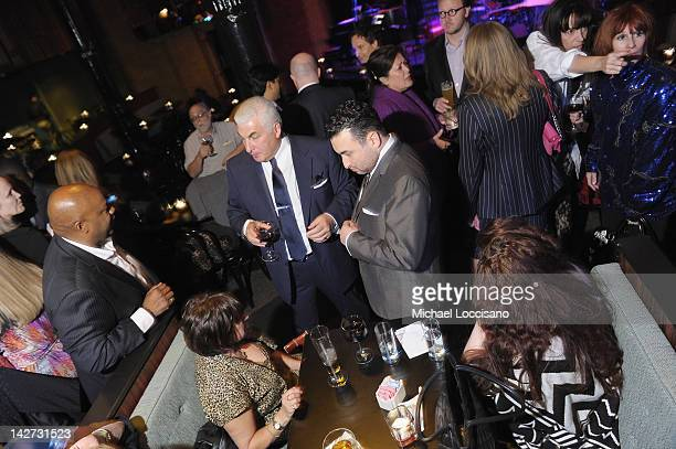 CoFounders Janis Winehouse Mitch Winehouse and Alex Winehouse attend the US Launch of the The Amy Winehouse Foundation at Joe's Pub on April 11 2012...