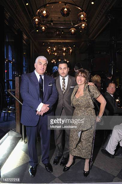 CoFounders Mitch Winehouse Alex Winehouse and Janis Winehouse attend the US Launch of the The Amy Winehouse Foundation at Joe's Pub on April 11 2012...