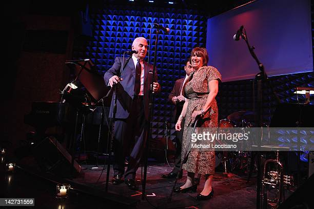 CoFounders Mitch Winehouse and Janis Winehouse address the audience during the US Launch of the The Amy Winehouse Foundation at Joe's Pub on April 11...
