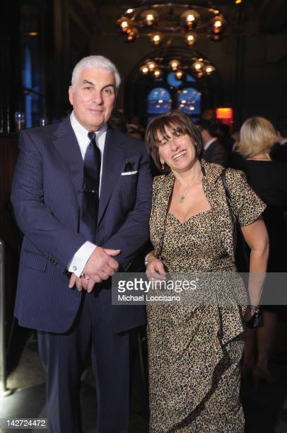 CoFounders Mitch Winehouse and Janis Winehouse attend the US Launch of The Amy Winehouse Foundation at Joe's Pub on April 11 2012 in New York City