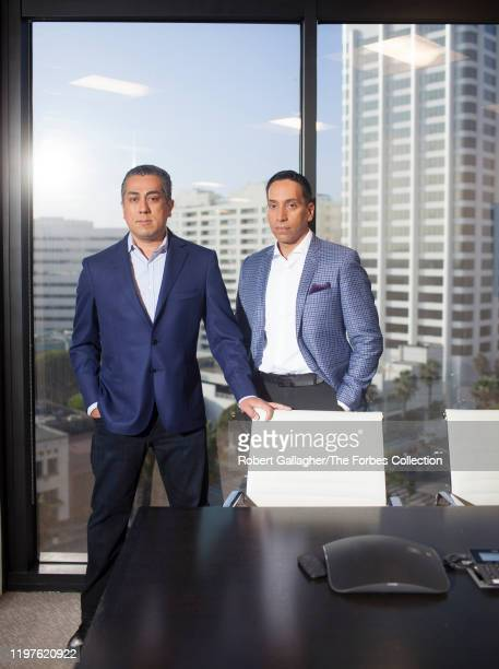 Cofounders of Clearlake Capital Group Behdad Eghbali and José E Feliciano are photographed for Forbes Magazine on October 17 2019 in Santa Monica...