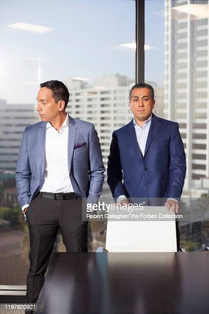 Cofounders of Clearlake Capital Group José E Feliciano and Behdad Eghbali are photographed for Forbes Magazine on October 17 2019 in Santa Monica...