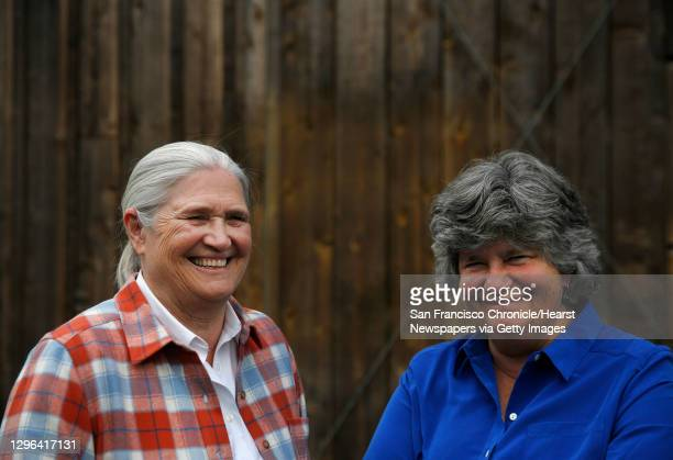 Co-founders of Cowgirl Creamery Peggy Smith, left, and Sue Conley pictured at their shop May 14, 2016 in Point Reyes Station, Calif. The pair have...