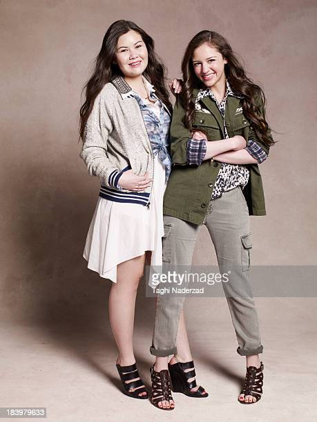 Cofounders of EmiJay Julianne Goldmark and Emily Matson are photographed for Oprah Magazine on February 20 2013 in Los Angeles California