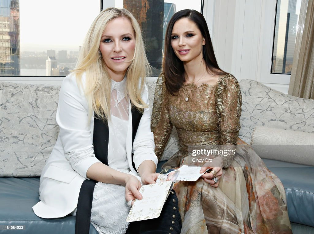 Co Founders Of Fashion Label Marchesa Keren Craig And Georgina Chapman Attend As Wedding