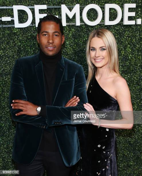 CoFounders of MDM Hassan Pierre and Amanda Hearst attend the MAISONDEMODE Celebrates Sustainable Style By Honoring Suzy Amis Cameron Of Red Carpet...