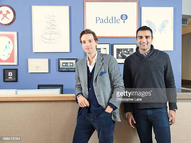 Cofounders of Paddle8 Alexander Gilkes and Aditya Julka are photographed for The Times on January 13 2015 in New York City