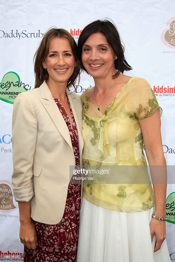 Co-Founders of Pregnancy Awareness Month Anna Getty (L) and Alisa Donner attend the Pregnancy Awareness Month 2013 Kick-Off Event 'Celebrating Dad's Role In Pregnancy!' at Bergamot Station on May 5, 2013 in Santa Monica, California.
