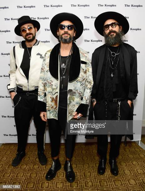 Cofounders of The Kooples Raphael Elicha Alexandre Elicha and Laurent Elicha at The Kooples and Emily Ratajkowski LA Cocktail Event at Chateau...
