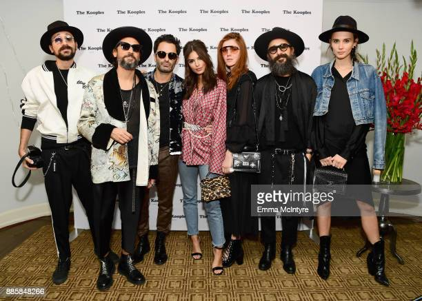 Cofounders of The Kooples Raphael Elicha and Alexandre Elicha CEO The Kooples Nicolas Dreyfus Emily Ratajkowski Creative Director The Kooples Steffy...