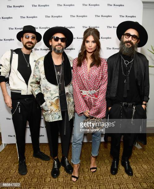 Cofounders of The Kooples Raphael Elicha and Alexandre Elicha Emily Ratajkowski and cofounder of The Kooples Laurent Elicha at The Kooples and Emily...