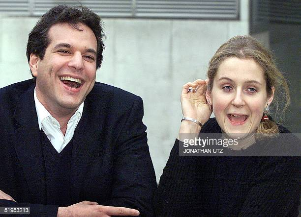 CoFounders of the late holiday and flight company Lastminutecom Brent Hoberman and Martha Lane Fox are delighted 14 March 2000 after their company...