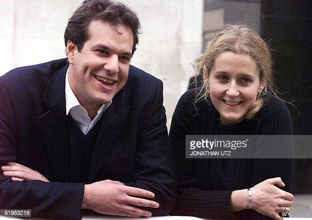 CoFounders of the late holiday and flight company Lastminutecom Brent Hoberman and Martha Lane Fox are delighted early 14 March 2000 after their...