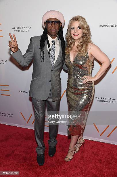 Cofounders of the We Are Family Foundation Nile Rodgers and Nancy Hunt attend the We Are Family 2016 Celebration Gala at Hammerstein Ballroom on...