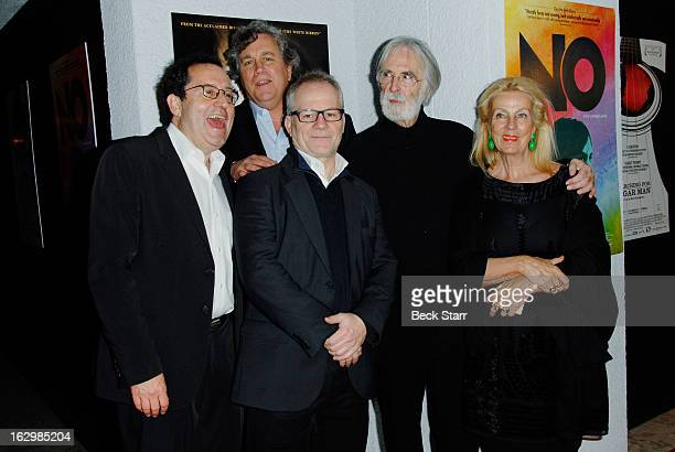 Cofounders Sony Pictures Classics Michael Barker and Tom Bernard Cannes artistic director Thierry Fremaux director Michael Haneke and set director...