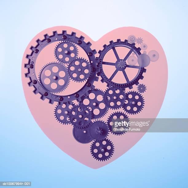 Cog wheels in heart (Digital Composite)