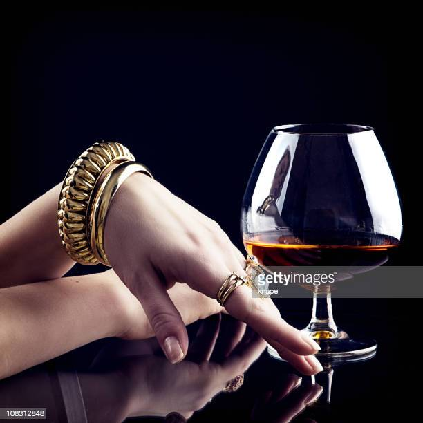 Cognac and jewelry