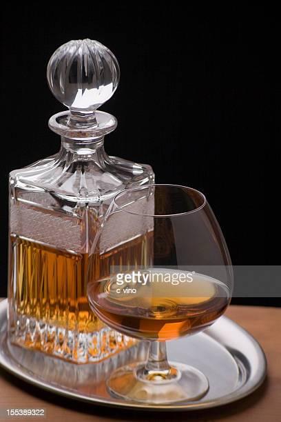 Carafe et verre de Cognac
