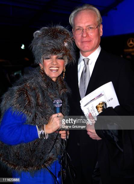 Cognac Wellerlane and Tim Gunn during Mercedes-Benz Fashion Week Fall 2007 - Seen Around Bryant Park - Day 9 at Bryant Park in New York City, New...