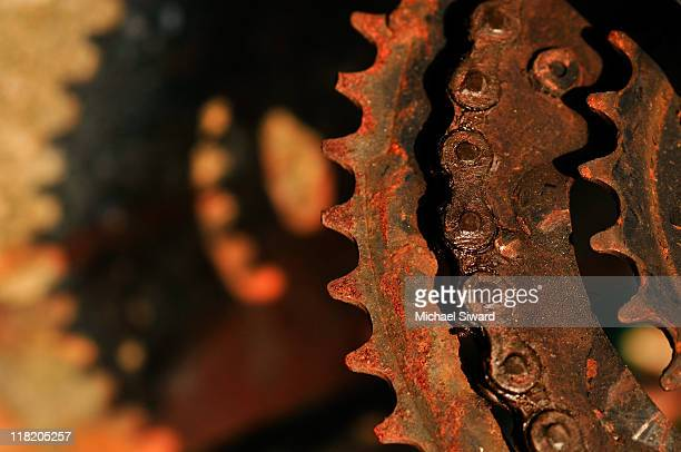 cogs and shadows - michael siward stock pictures, royalty-free photos & images