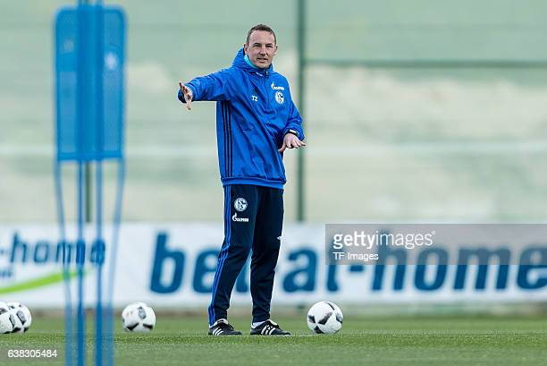 CoHead coach Tobias Zellner of Schalke gestures during the Training Camp of FC Schalke 04 at Hotel Melia Villaitana on January 10 2017 in Benidorm...