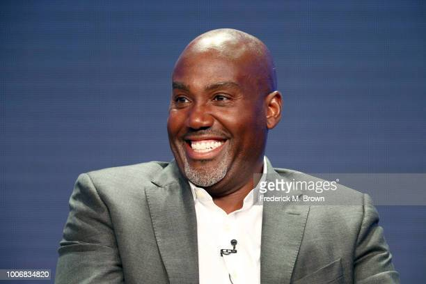 CoHead of Television at Amazon Studios Vernon Sanders speaks onstage during the Amazon Studios portion of the Summer 2018 TCA Press Tour at The...