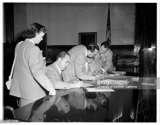 Cohen income tax hearing June 8 1951 Louis GlasserSergeant EV JacksonLieutenant G R StonerHarold J Ostley Charles Schuster Lavonee CohenAttorney...