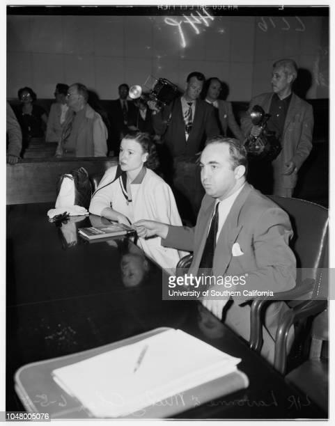 Cohen income tax trial June 5 1951 Samuel H GraysonJ Arthur VausLavonne CohenAttorney Maurice BlumenthalMickey CohenForrest Calkins