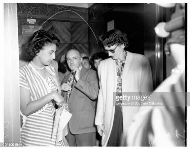 Cohen income trial June 11 1951 Maurice Levy Forest Calkins W A FitzgeraldHarold J OstlyMore descriptive information with originals