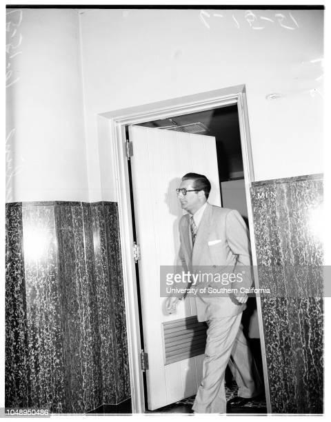 Cohen trial June 15 1951 Beverly GibbsDon Lee Mrs Don LeeJimmy Rist'Babe' McCoy John HudkinsEli LubinJohnny Stompanato