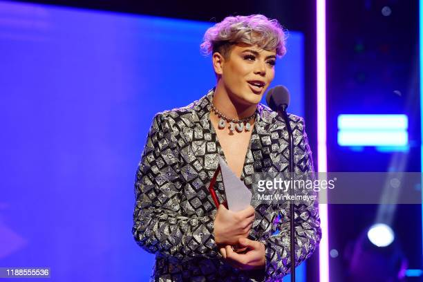 Cohl Woolbright accepts award onstage during the 2nd Annual American Influencer Awards at Dolby Theatre on November 18 2019 in Hollywood California