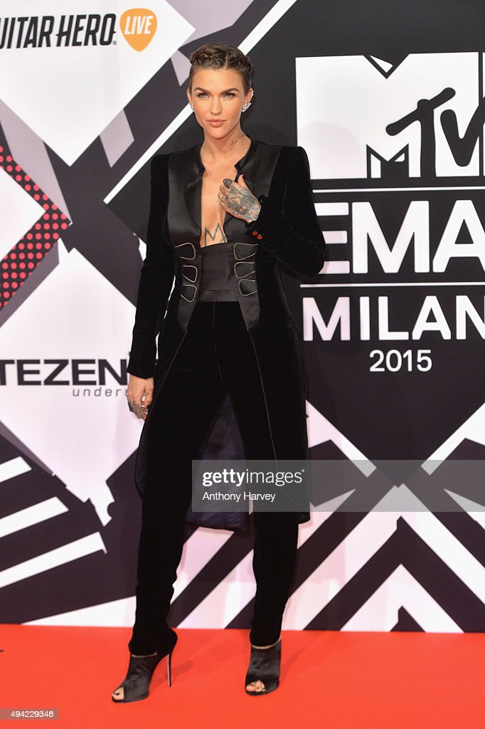 Co-host actress Ruby Rose attends the MTV EMA's 2015 at the