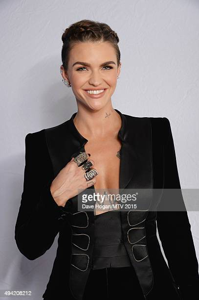 Cohost actress Ruby Rose poses for a portrait before the MTV EMA's at the Mediolanum Forum on October 25 2015 in Milan Italy
