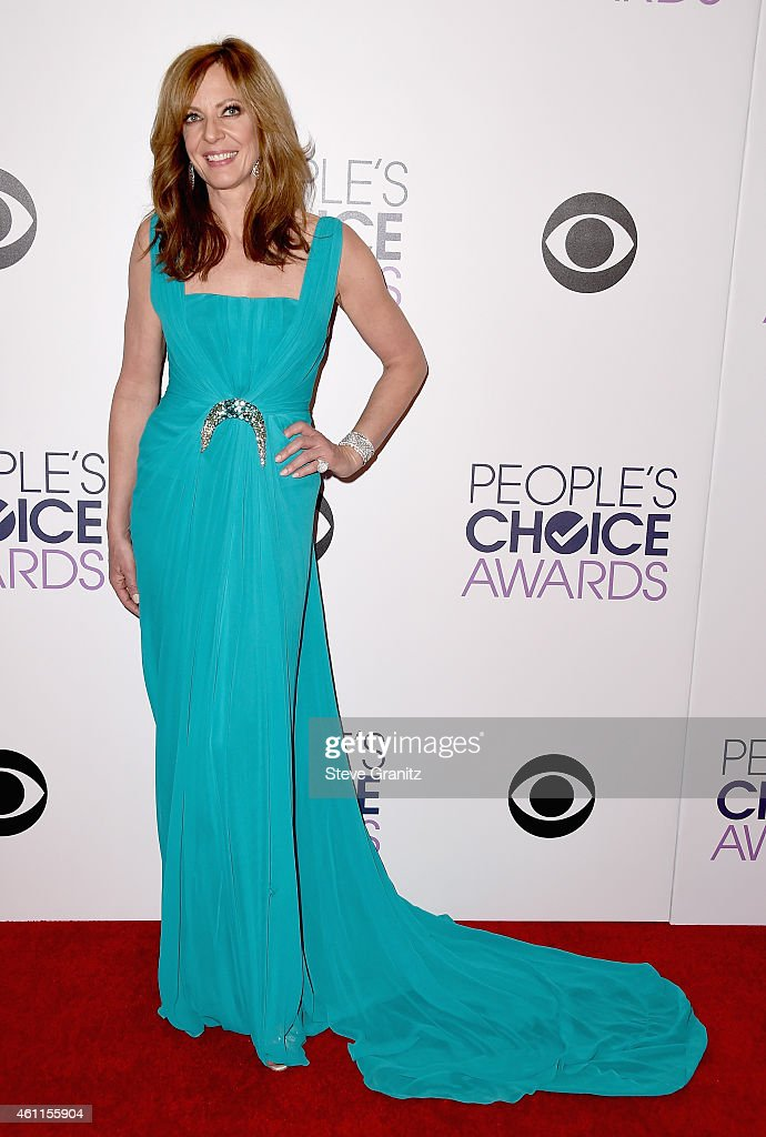 Co-host Allison Janney poses in the press room at the 41st Annual People's Choice Awards at Nokia Theatre LA Live on January 7, 2015 in Los Angeles, California.