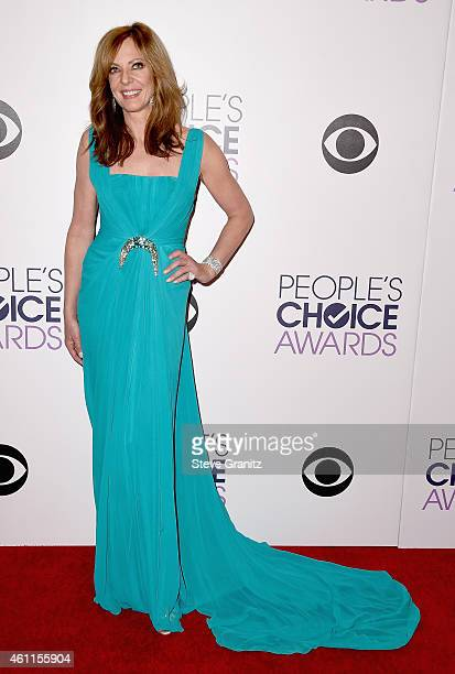 Co-host Allison Janney poses in the press room at the 41st Annual People's Choice Awards at Nokia Theatre LA Live on January 7, 2015 in Los Angeles,...