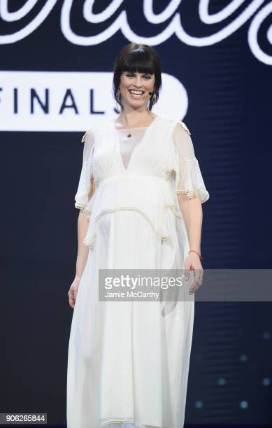 Cohost and model Adi Neumann appears on stage as WeWork presents Creator Awards Global Finals at the Theater At Madison Square Garden on January 17...