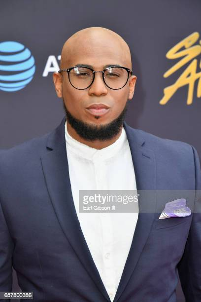 Cohost Anthony Brown arrives at the 32nd annual Stellar Gospel Music Awards at the Orleans Arena on March 25 2017 in Las Vegas Nevada