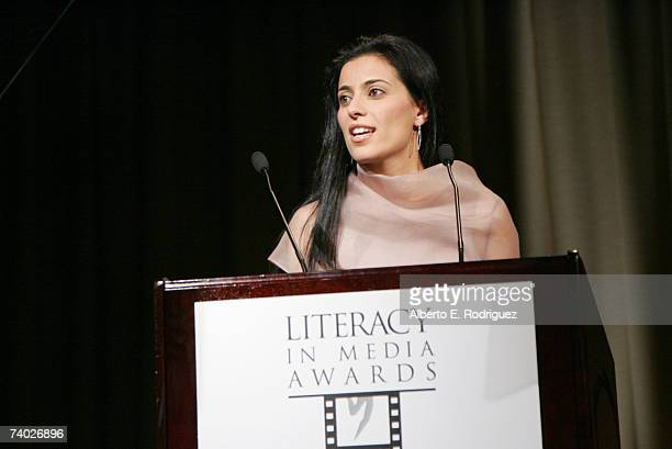Cohost Bahar Soomekh attends the Literacy Networks' LIMA awards dinner on April 29 2007 in Los Angeles California