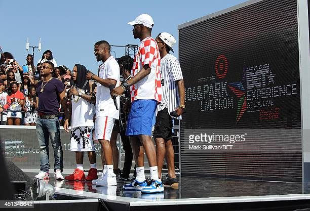 Cohost Bow Wow rapper A$AP Ferg rapper A$AP Nast and rapper A$AP Rocky attend 106 Park Live during the 2014 BET Experience At LA LIVE on June 27 2014...