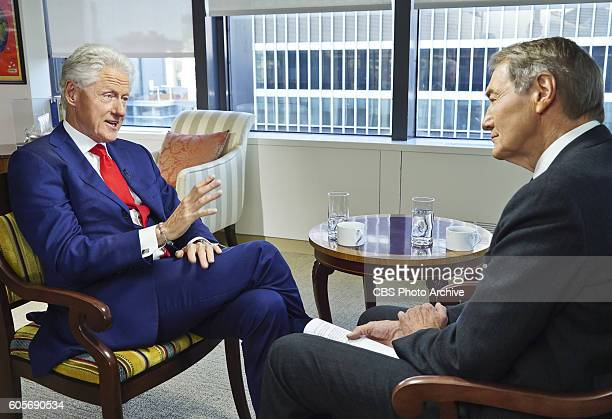 CoHost Charlie Rose interviews former President Bill Clinton in New York on Sept 12 2016