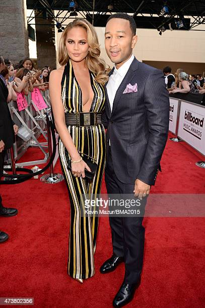Co-host Chrissy Teigen and recording artist John Legend attend the 2015 Billboard Music Awards at MGM Grand Garden Arena on May 17, 2015 in Las...