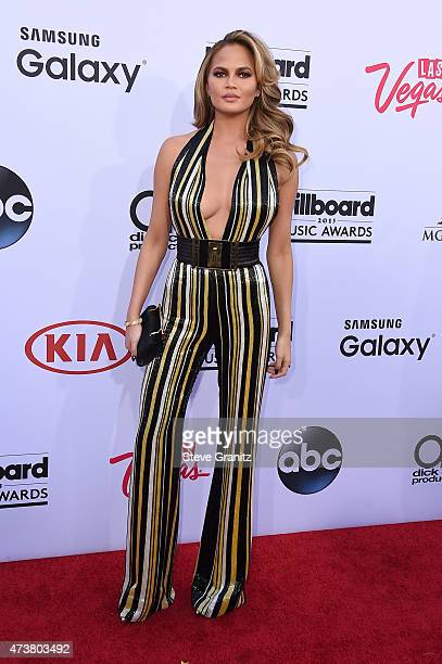 Cohost Chrissy Teigen attends the 2015 Billboard Music Awards at MGM Grand Garden Arena on May 17 2015 in Las Vegas Nevada