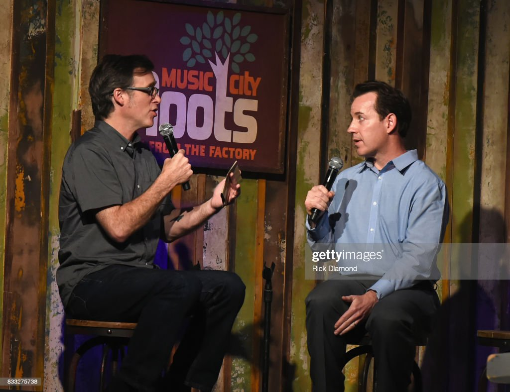 Co-Host Craig Havighurst with Country Music Hall of Fame and Museum's Michael Gray during Music City Roots at The Factory At Franklin on August 16, 2017 in Franklin, Tennessee.