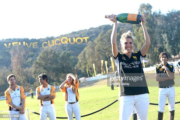 Cohost Delfina Blaquier attends the SixthAnnual Veuve Clicquot Polo Classic at Will Rogers State Historic Park on October 17 2015 in Pacific...