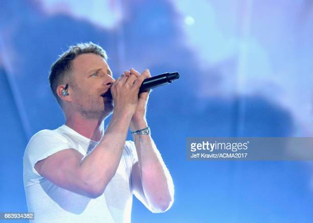 Cohost Dierks Bentley performs onstage at the 52nd Academy Of Country Music Awards at TMobile Arena on April 2 2017 in Las Vegas Nevada