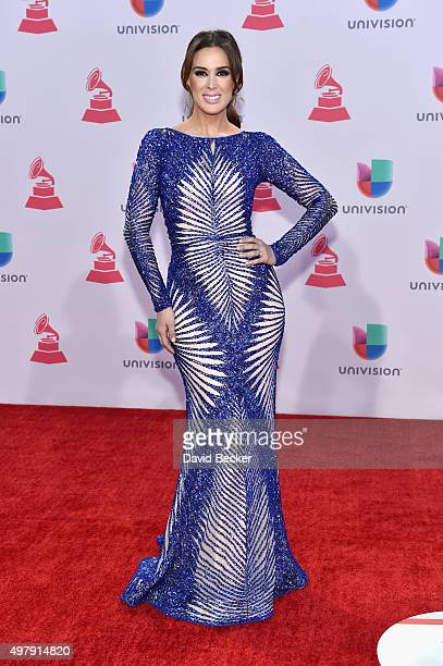 Cohost Jacqueline Bracamontes attends the 16th Latin GRAMMY Awards at the MGM Grand Garden Arena on November 19 2015 in Las Vegas Nevada