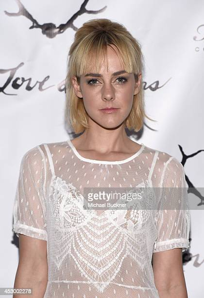Cohost Jena Malone attends For Love and Lemons annual SKIVVIES party cohosted by Too Faced and performance by The Shoe at The Carondelet House on...