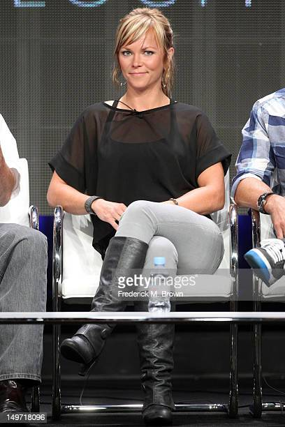 Cohost Jessi Combs speaks at the 'Overhaulin' discussion panel during the Discovery Networks/Velocity portion of the 2012 Summer Television Critics...