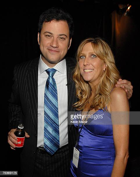 HOLLYWOOD JULY 11 Cohost Jimmy Kimmel and ESPY Producer Maura Mandt backstage at the 2007 ESPY Awards at the Kodak Theatre on July 11 2007 in...